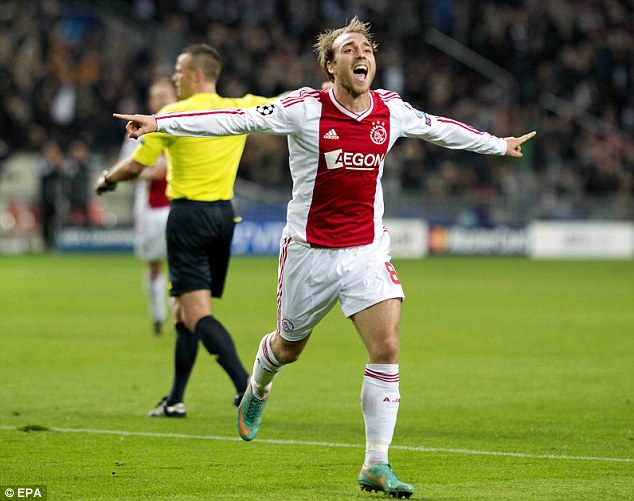 Wanted: Christian Eriksen has shown his huge potential at Ajax in the Champions League this season