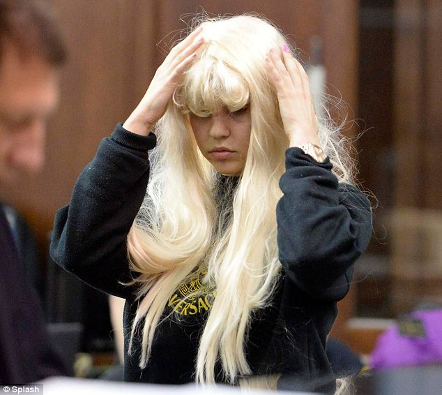 Drug charges: Amanda Bynes (seen here in court on Friday) claimed on Tuesday that her lawyer is getting the case against her dropped