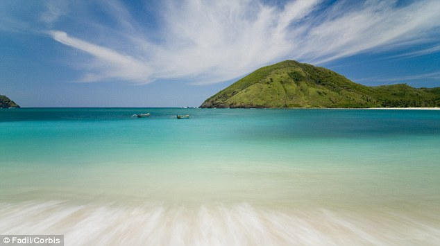 Mawun Beach on Lombok, Indonesia