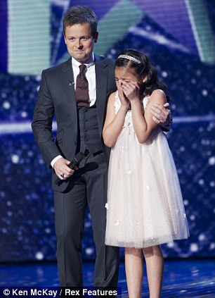 Pressure: Arisxandra Libantino cries during this year's Britain's Got Talent