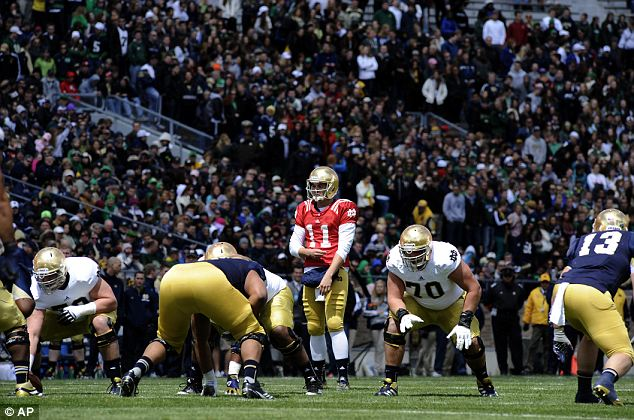 All about football: Notre Dame (pictured) are rivals with Ohio State both because of skill and their proximity