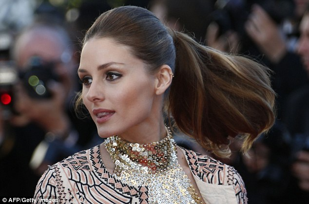 Voluminous: The actress has fine hair but a blow dry and masque treatment gives it volume and bounce