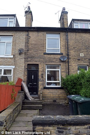 House: This is the former home of Beckham in Shipley, West Yorkshire, where she brought misery to her neighbours