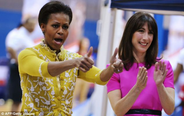 Popular: In the United States First Lady Michelle Obama has remained much more popular than husband Barack, something Mrs Cameron could replicate here