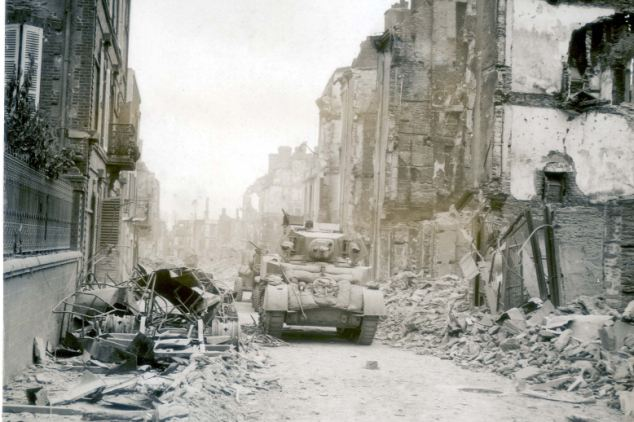 Destroyed: To make matters worse the American troops were the same ones who had destroyed many French towns and cities in bombing campaigns that many thought was a display of US machoism