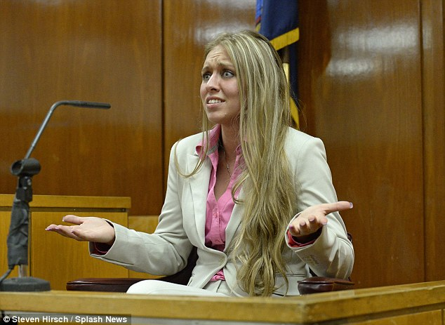 No complaints: Desiree Ellis (seen here when she testified on the pair's behalf earlier in the trial) called Vincent Sr. a 'teddy bear' and was seen sobbing outside of court
