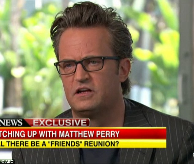 Speaking out: Matthew Perry opened up about his addiction issues in an interview with ABC News