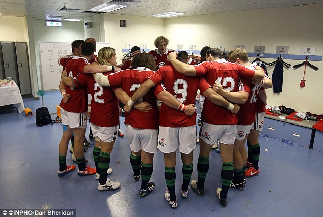 Team talk: Paul O'Connell addresses his players before they run out for their first game
