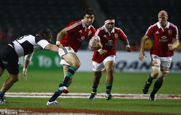 Man of the match: Phillips was at his pulsating best on the front foot for the Lions