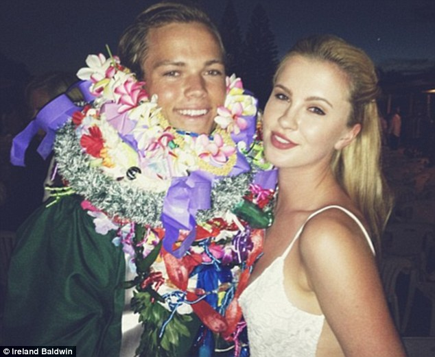 Twits: Luckily enough the man in her Twitter snap proved to be her surfer beau Slater Trout