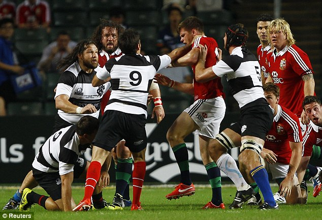 Flashpoint: Dimitri Yachvili steps in after Owen Farrell and Schalk Brits swap punches