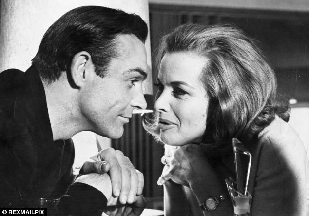 Sean Connery and Honor Blackman, who was 39 in Goldfinger in 1964