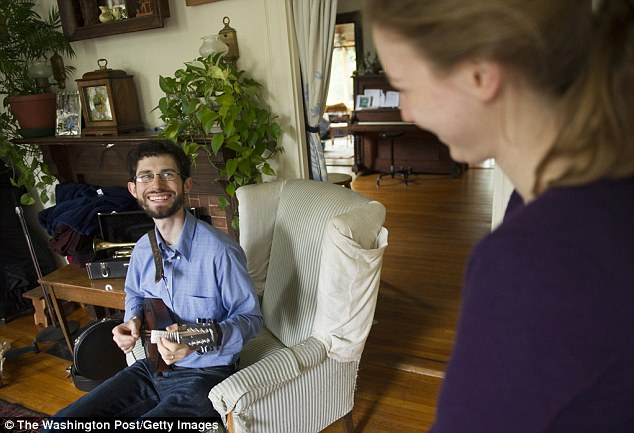 Modest living: Jeff Kaufman, a Google programmer, and his wife Julia Wise, right, lived on just $10,000 last year and donated 45percent of their earnings to charity