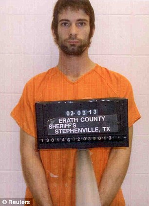Eddie Ray Routh is pictured in this booking photo provided by the Erath County Sheriff s Office. Routh is a suspect in the shooting and killing of former Navy SEAL Sniper Chris Kyle