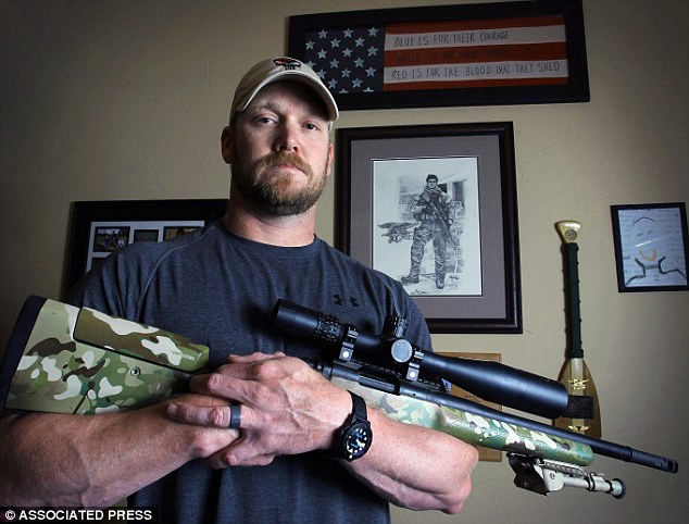 Deadly: In this April 6, 2012, photo, former Navy SEAL and author of the book  American Sniper , Chris Kyle poses in Midlothian, Texas