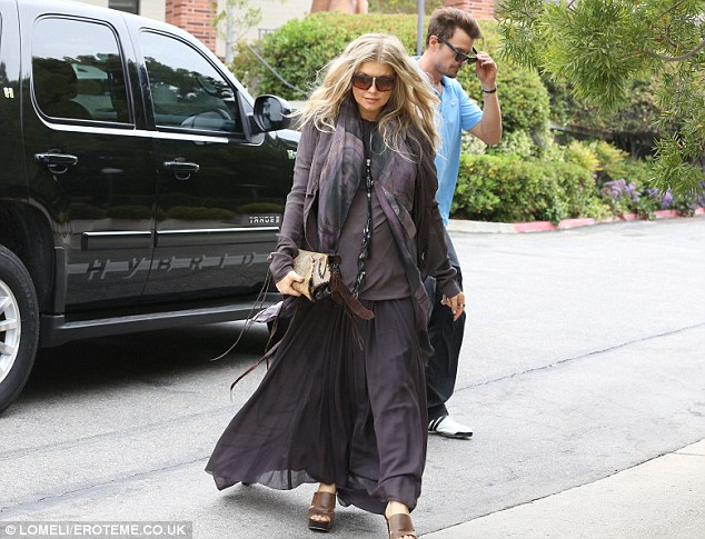 Stylish: Even when she's not being flashy, Fergie is still stylish