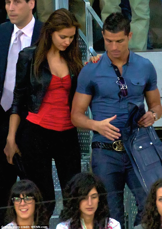 Three years and counting: Irina and Cristiano started dating in the summer of 2010 after meeting through their Armani Exchange campaigns