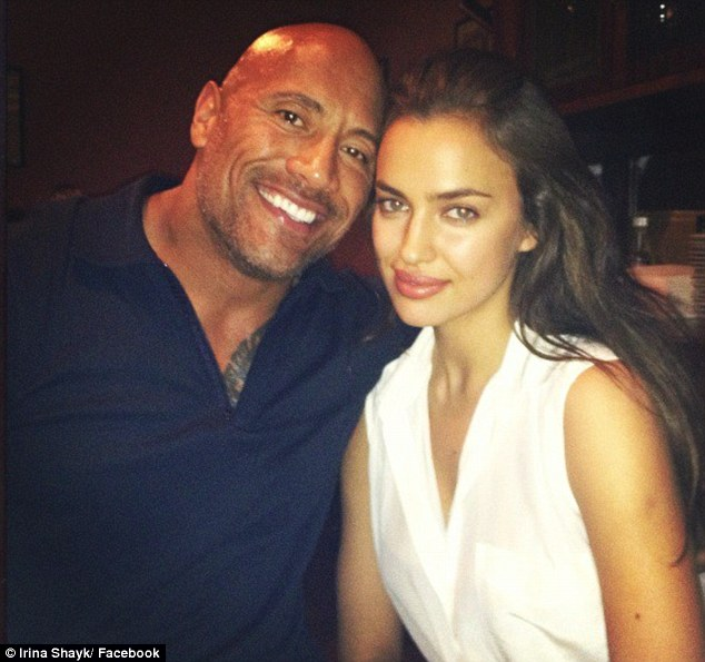 Won't Cristiano be jealous: The 27-year-old stunner posed with her new Herculean co-star Dwayne 'The Rock' Johnson
