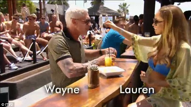 Newcomer: Wayne Lineker made his debut on TOWIE on Sunday night, and straight away chatted up Lauren Pope