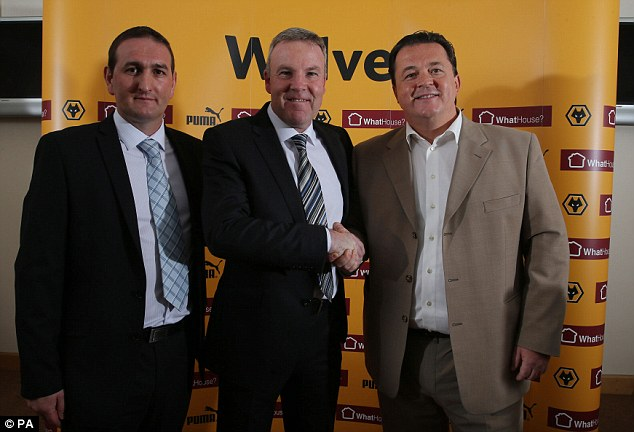 Got his man: Jez Moxey (right) is delighted with the appointment of Jackett