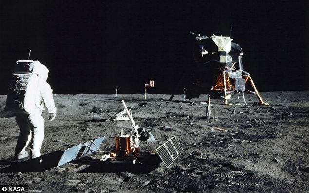 During the moon landing of 1969, Neil Armstrong was recorded by Nasa saying: 'That's one small step for a man, one giant leap for mankind.'