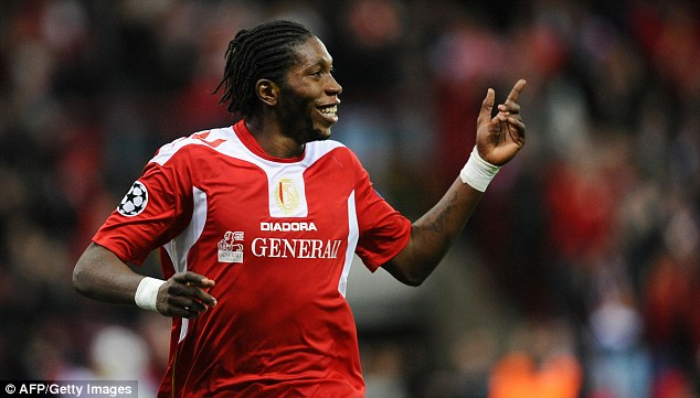 Arriving? Standard Liege's Dieumerci Mbokani is being looked at by Steve Clarke