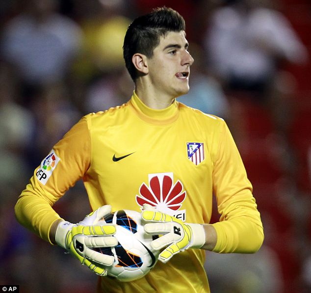 Hit: Thibaut Courtois has enjoyed a successful loan spell at Atletico Madrid