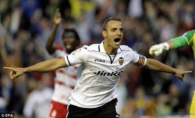 Potenial: Valencia's Roberto Soldado has caught the eye of Tottenham