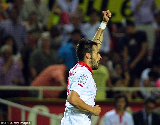 Striker: West Ham are still pursuing Sevilla's Alvaro Negredo