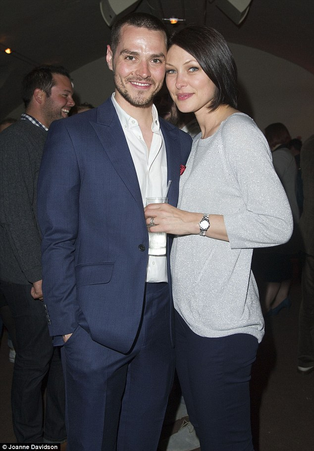 Busted for being hot: Matt Willis - who also star's in the West End show - was joined by his wife Emma Willis for the night