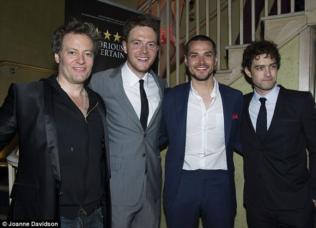 Men of the stage: (from left to right) Glenn Carter, David Thaxton, Matt Willis and Lee Mead will all be performing in the new show