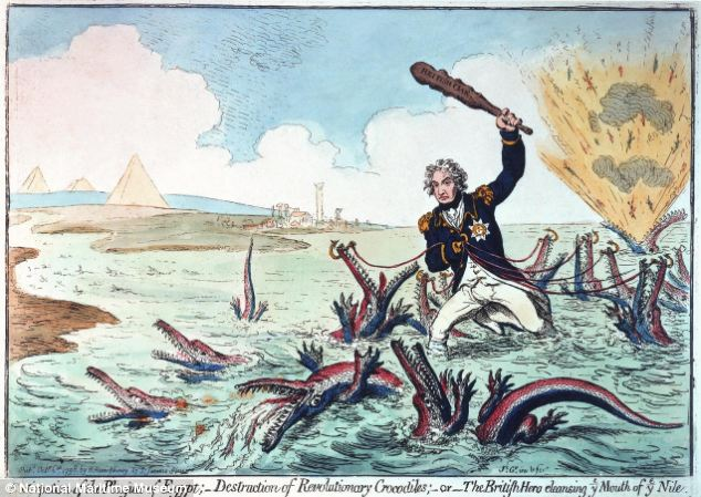 'Extirpation of the Plagues of Egypt; - Destruction of Revolutionary Crocodiles;