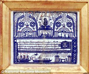 Cut paper picture commemorating Vice-Admiral Horatio Nelson, maker unknown, circa 1806