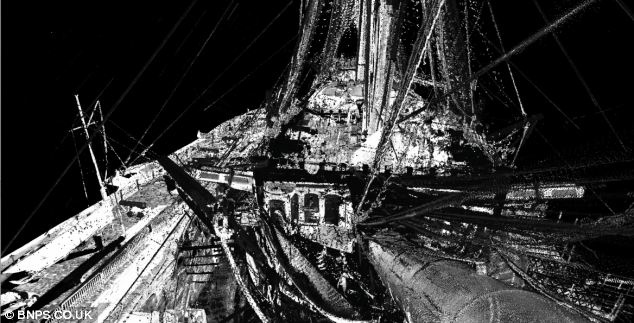 Part of the 3D fly-through that reveals every nook and cranny of the historic ship.