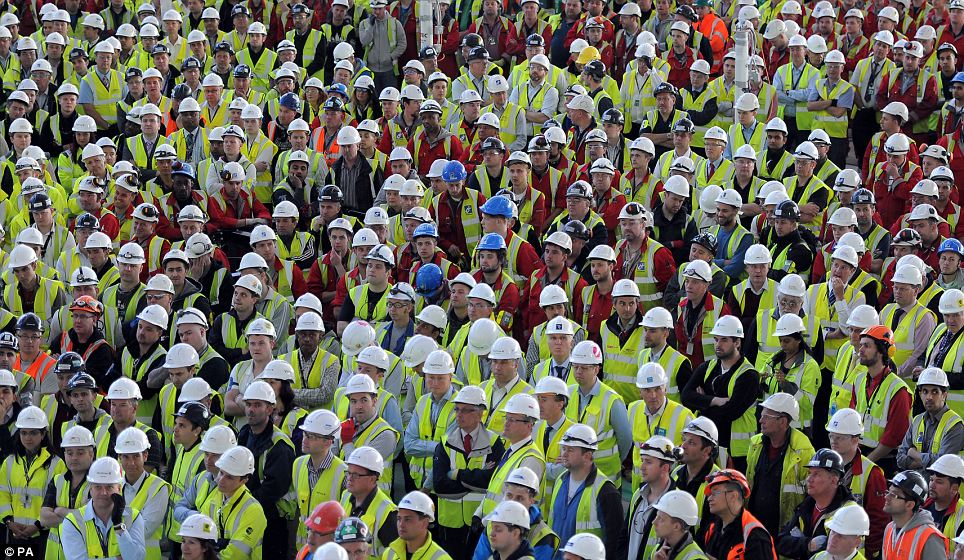 Jobs: There will be six months of testing of T2, involving 14,000 people, before the opening. By the time of the first flight, the new terminal will have supported 35,000 jobs across the UK
