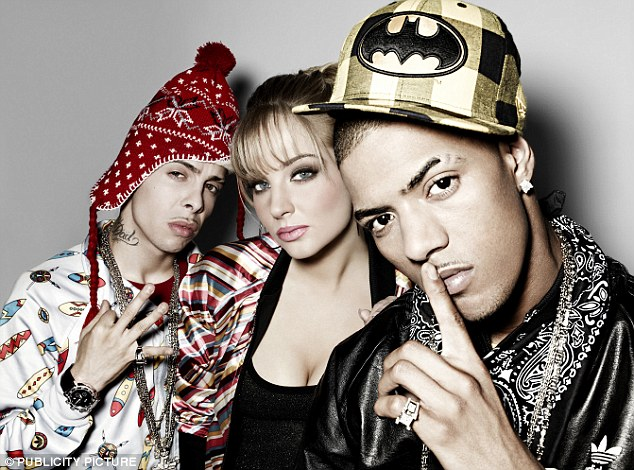 As they were: Dino 'Dappy' Contostavlos, Tulisa Contostavlos and Richard 'Fazer' Rawson when they were in N-Dubz