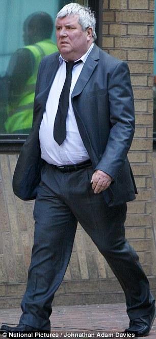 Greg Miskew arrives at Southwark Crown Court