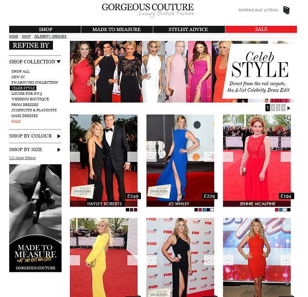 Celebrity favourite: Gorgeous Couture is a boutique fashion brand that specialises in glamorous evening wear