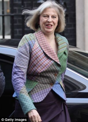 Warning: Home Secretary Theresa May says migrants are placing an 'unacceptable burden' on schools, hospitals and benefits system