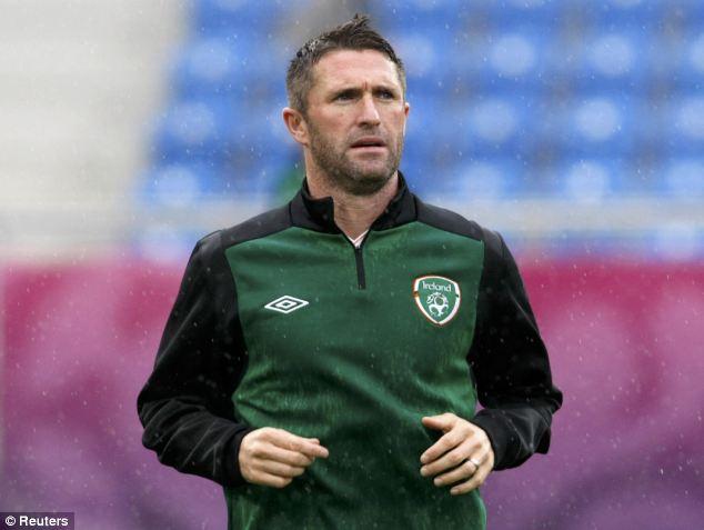 Republic of Ireland striker Robbie Keane
