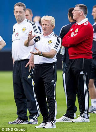 Easy: Despite his reputation for being trouble off the pitch, Scotland boss Gordon Strachan has said he finds Griffiths easy to manage