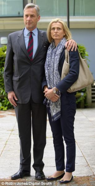 'Extremely stressful': Richard Drax MP and his wife Elsebet outside court