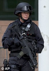A female armed police officer