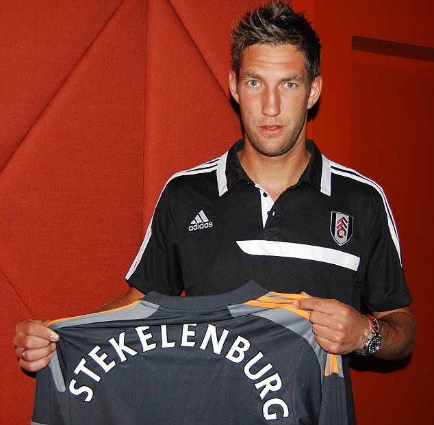 New arrival: Stekelenburg has joined The Cottagers on a four-year deal