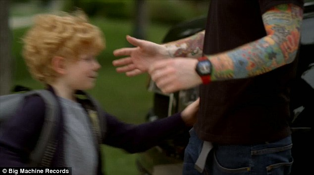 Cameo: At the end of the music video the real Taylor and Ed turn up playing the parents of each of the two children