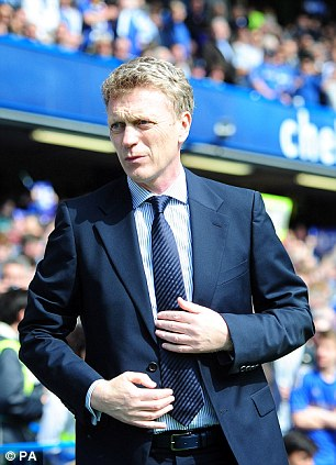 Transfer target: David Moyes, who has moved from Everton to take over at Manchester United, may wish to take Fellaini with him
