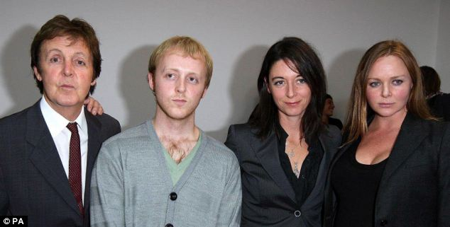 Famous family: James McCartney (second left) with father Paul (far left) and sisters Mary and Stella (left to right)