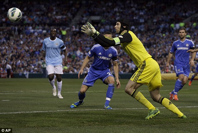 Competition: Petr Cech is the only goalkeeper in Chelsea's squad after Ross Turnbull's and Hilario's exit