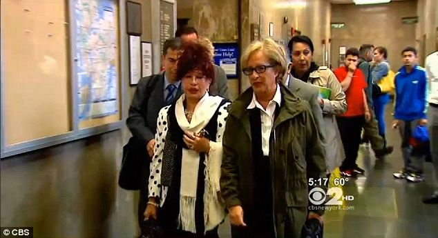 Day in court: Cachay's mother entered court the first day of the trial of Nicholas Brooks in the murder of her daughter in the bathtub of exclusive Manhattan hotel Soho House