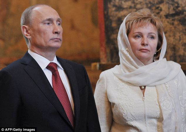 Body language: The Russian president pictured last year with his wife Lyudmila, 55, who has almost totally disappeared from public life. Some rumours suggest she has gone to live as a recluse in a monastery